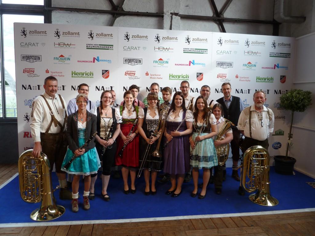Gruber Dorf Musikanten auf dem 1. Binger Oktoberfest